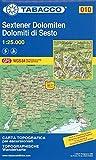 Sextener Dolomiten: Wanderkarte Tabacco 010. 1:25000: Dolomiti di Sesto (Cartes Topograh) - Tabacco
