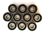 10 Kugellager Präzi-lager Präzisionslager 6201 RS 12x32x10mm NEU