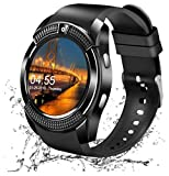 Teconica V8 Sports Bluetooth V4.2 Sweat-Proof Calling Smartwatch with Sedentary Reminder, Pedometer, Sleep