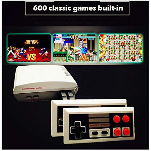 Mini TV Videospiel 8 Bit Konsole HD 1080P | 600 Classic Classic Retro Vintage Nostalgie Spiele 90 | HDMI Verbindung | Bereit für die Verwendung von Multiplayer 2 Controllern | Trend 2018