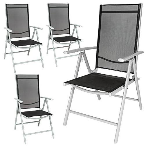 Set Di Sedie Da Giardino.Tectake Set Di Alluminio Sedie Da Giardino Pieghevole Con Braccioli