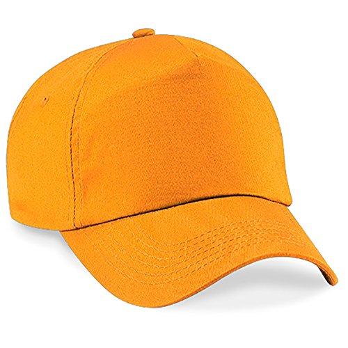 4sold Junior Original 5 Panel Cap Unisex Jungen Mädchen Mütze Baseball Cap Hut Kinder Kappe (Orange) (Baseball-caps Orange)