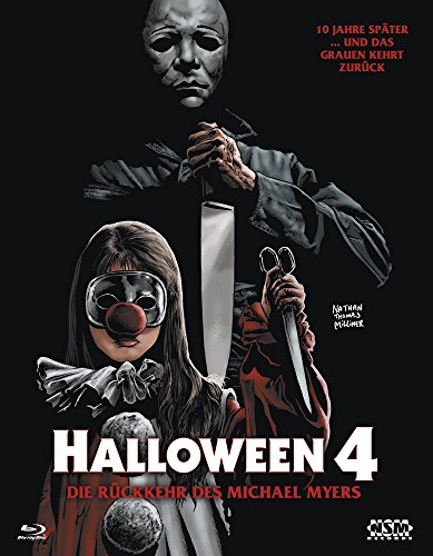 Halloween 4 (Blu-Ray) Hartbox - Limited 333 Edition Cover B (George Wilbur Halloween)