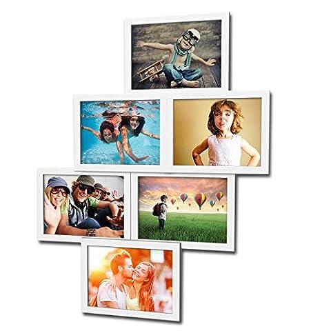 Fotogalerie für 6 Fotos 13x18 cm - 3D 603 Optik - Bilderrahmen Bildergalerie Fotocollage Rahmenfarbe