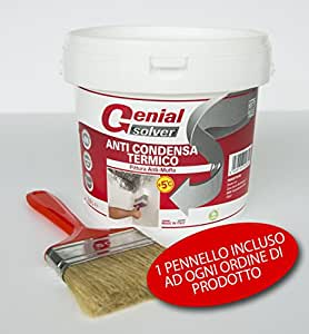 Pittura termica antimuffa anti condensa termico 2 5l for Fissativo antimuffa
