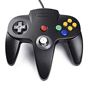 iNNEXT 2 Pack Classic Nintendo N64 Bit Retro USB Game Controller Gamepad Joystick for PC and MAC (2 Pack-Black)