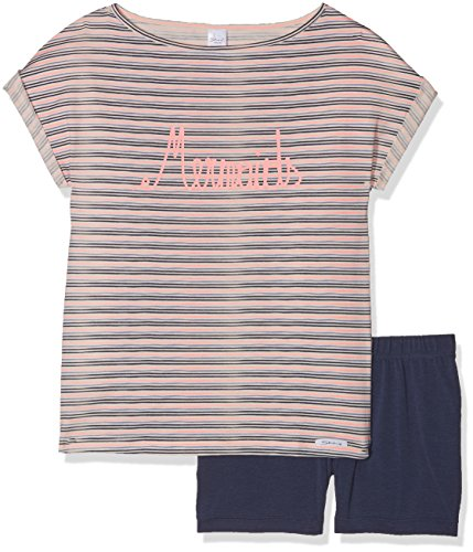 Skiny Mädchen Cosy Night Sleep Girls Pyjama kurz Zweiteiliger Schlafanzug, Rosa (Cristalpink Stripe 8322), 128 - Rosa Kurzer Schlafanzug