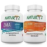 Naturyz Zma Zinc, Magnesium Aspartate, Vitamin B6 Testosterone Booster Supplements for Men