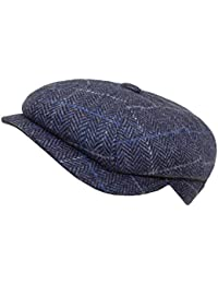 EveryHead Fiebig Men s Flatcap Flat Cap Hat with Visor Peaked Golfer Autumn  Lined Checked for Men 480c5fb72600