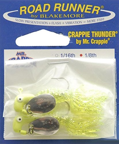 road-runner-chartreuse-sparkle-crappie-thunder-fish-lure-1-8-ounce-solid-body