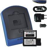 Batterie + Chargeur (USB/Auto/Secteur) pour Rollei 6S WiFi, 7S WiFi Actioncam Bullet [3.7V - 1450mAh - Infochip]