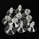 #4: Aquarium Sucker Suction Cup for 4/6mm Air Line Pipe Tube Wire Holder Used for Aquarium/Any Glass Surface Fish Supples (pack of 10)