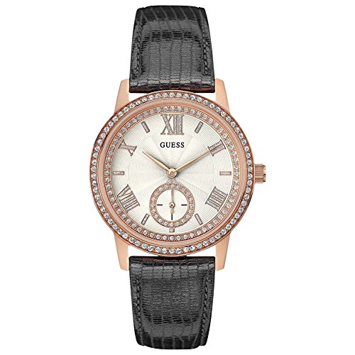 Guess Damen-Armbanduhr Analog Quarz Leder W0642L3 (Rose Gold-männer Guess Uhr)
