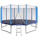 Physionics Trampolin Set | Ø 4,57 m, Komplettset inkl. Trampolin, Netz, Wetterplane und Leiter, max Belastung 180 kg | Outdoor, Jumper, Gartentrampolin, Kindertrampolin