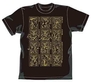 Saint Seiya Gold Cloths T-shirt Gold Ver. Black Size : M
