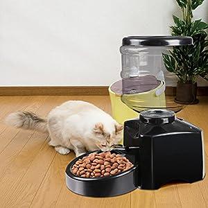5,5L-BUSYALL Distributeur Automatique pour Animaux de Compagnie Programmable de nourriture avec enregistrement vocal pour chien, chat