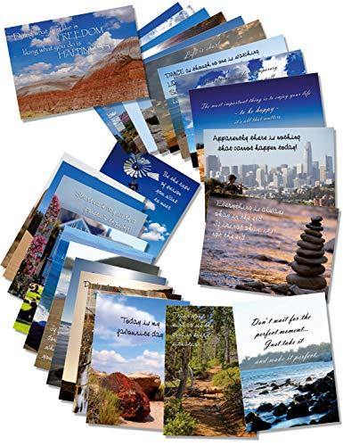 Grußkarten ewtshop® 20er Postkarten Set Geburtstag mit 20 Sprüchen /& Zitaten