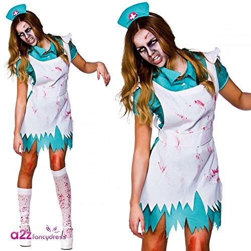 Imagen de halloween  disfraz de enfermera para mujer, talla uk 10  12 hf 5023. s