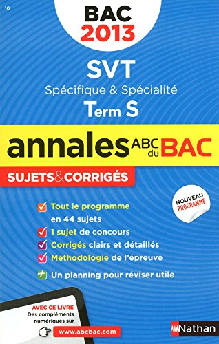 ANNALES BAC 2013 SVT TS SPE +