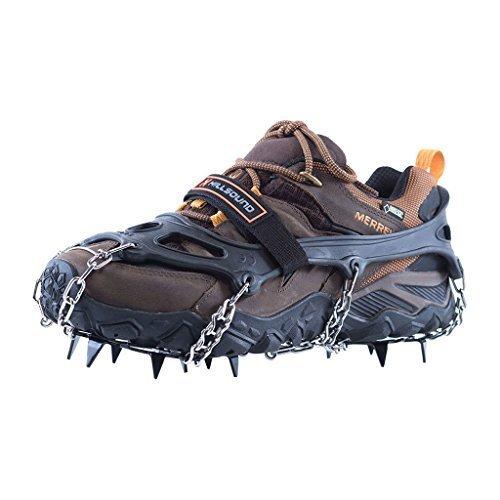 Hillsound Trail Crampon Traction Device, Black, Medium -