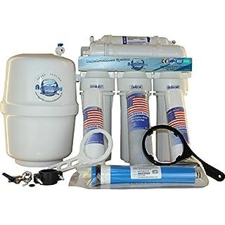 5-stufige Osmoseanlage mit 1 Wege Wasserhahn und 8 Liter Vorratsbehälter -Umkehrosmoseanlage - Wasserfilter für den Hausgebrauch
