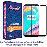 Rooxle™ Premium 5D Tempered Glass For Oneplus 5T| One Plus 5T 1+5t | Full Front Body Cover | Edge To Edge Screen Guard Protector - Black
