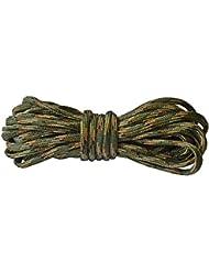 5 metros de cuerda paracord 3 mm (Verde, marrón, negro y beige)