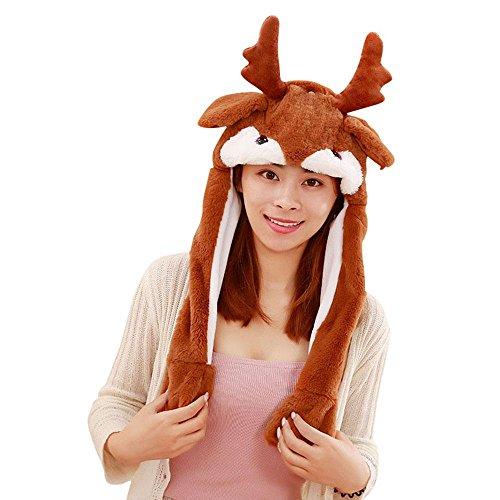 AOLVO [Trend der 2018] Tik TOK Funny Plüsch Bunny Hat Gap beweglich,/Jumping...