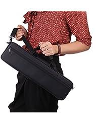 unory (TM) caso caja de paño de Oxford bolsa de concierto para Flauta Travesera flauta de 600d resistente al agua con correa para el hombro ajustable bolsillo algodón