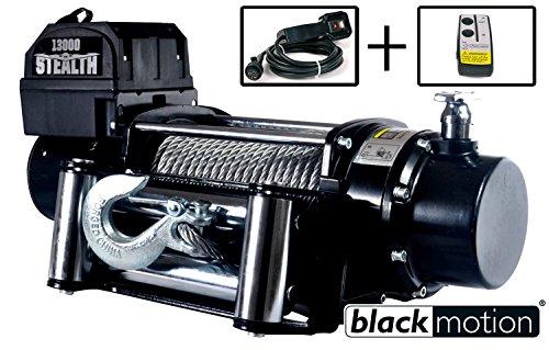 Elektrische Seilwinde Black Motion Stealth 13000LB 5,9 t 12 V (12-volt-motion)