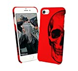 Red Black Skull Shadow Metal Rock and Roll Metalica Gothic iPhone 6 7 - Best Reviews Guide