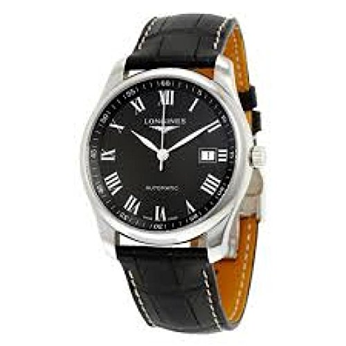 Longines The Longines Master Collection Automatic l27934517 quandrante Steel Black Leather Strap Clock
