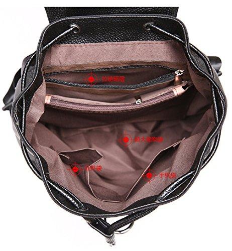 Keshi Neu Faschion Rucksäcke Damen Mädchen Schüler Lässige Canvas Rucksack Vintage Backpack Daypack Schulranzen Schulrucksack Wanderrucksack Schultasche Rucksack für Freizeit Outdoor Sport Nylon Grau