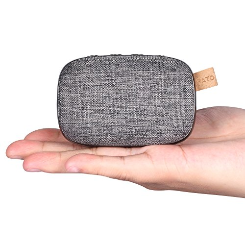 4.2-Lautsprecher, tragbar, kabellos, 10 m Bluetooth-Reichweite & integriertes Mikrofon, Stoff-Design, Stereo, doppelte Lautsprecher (Auto Stereo-bluetooth Amp)