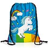 style3 Unicorn Candy Einhorn Rucksack Tasche Turnbeutel Sport Jute Beutel Regenbogen