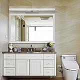 Lámpara de espejo de acero de alta calidad, con LED, resistente al agua, anti niebla, lámpara de pared moderna y simple, Weißes Licht, 27.2*2.8*1.6 in / 16W 16.00 watts