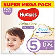 Huggies Extra Care Pants - Size 5, Super Mega Pack, 12-17 kg, 136 Diaper Pants