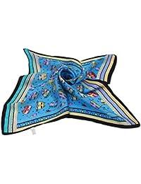 MEISHINE® 50*50cm Mujer 100% Seda Bufanda Impresión Pañuelo Estola Chal Pañuelo de