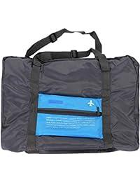 Ropa bolsa de almacenamiento artistic9(TM) plegable gran viaje equipaje equipaje de mano de almacenamiento organizador bolsa de viaje bolsa de hombro mano, nailon, azul celeste, 45x35x20cm