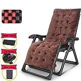 AI LI WEI Home Outdoor/Klappstuhl, Zero Gravity Massagesessel mit Armlehnen tragbare verstellbare Lehnstuhl Strand Gartensessel mit Cupholder und Kopfstütze Leichte Camping-Stuhl (Color : Brown)