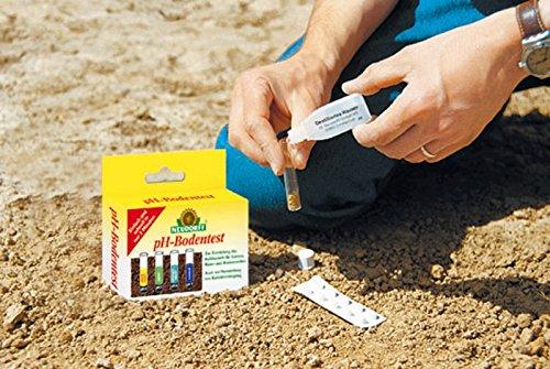 Neudorff pH-Bodentest, zur Ermittlung des Boden-pH-Wertes, des Kalkbedarfs, 8 Tests im Set