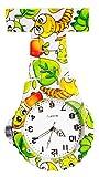 Ellemka JCM-2102 N - Klassische Schwesternuhr Clip zum Anstecken FOB Kittel Krankenschwester Pflege-r Quarz Puls-Uhr Taschen Hänge-Band Ansteck-Nadel Fashion Trend Art Design Pattern - Cute Bugs