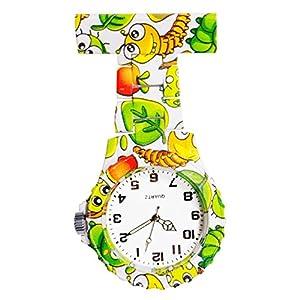 Ellemka – Schwestern   Herren Damen Unisex   FOB Ansteckuhr   Analoge Uhranzeige   Digitales Quartz Uhrwerk  NS-2102 Plastik ABS Pin Band   Art Design – Cute Bugs