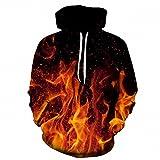 Fire stampare 3D Uomini Donne Hoodies 6XL Felpe qualità Giacca con cappuccio Novità Streetwear moda casual Pullover LMS029 M