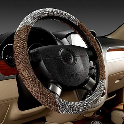 Car steering wheel cover Natürliche Volle Bettwäsche Atmungsaktiv Vier Jahreszeiten Universal-Lenkrad Abdeckung Rutschfeste Schweißabsorbierende Auto Lenkradabdeckung,2 -