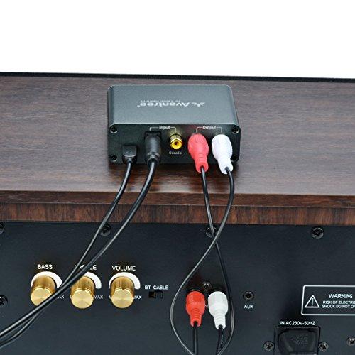 Avantree Audio Konverter Da Wandler DAC Digital zu Analog, Optisch / Koaxial Input, Kopfhörer / Lautsprecher Output, Volume Control, Optisches Kabelenthalten, 192 KHz [2 Jahre Garantie] - 4