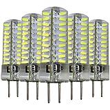 EKINHUI LED Dimmable GY6.35 5W 80 LED 4014 SMD 400-500 LM AC 110V / AC 220V Caliente la lámpara blanca blanca del gel de silicona del LED (5PCS) ( Color : Warm White , Size : 110V )
