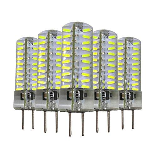 Ampoules, Ampoules domestiques, 5PCS Dimmable GY6.35 5W 80 LED 4014 SMD 400-500 LM Blanc chaud blanc froid Lampe à base de gel de silice AC 110V / AC 220V Ampoules ( Couleur : Blanc chaud , Taille : 220v )