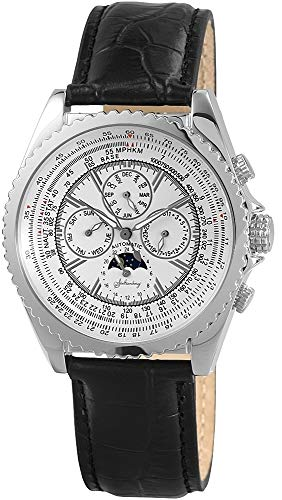 Armbanduhr Herrenuhr Automatikuhr Uhr analog mit Echtlederarmband und Datumsanzeige