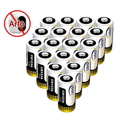 18 St. CR123A CR17345 Batterien, Keenstone 3V 1400 mAh Lithium Einwegbatterie, [Nicht wiederaufladbar, Nicht für Arlo], für Taschenlampe, Intelligente Instrumentierung, Mikrofone usw. (123 Batterien Wiederaufladbare)